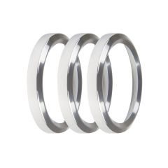 """HOLLEY EFI REPLACEMENT BEZELS - 2-1/16"""" BEZELS, SILVER, PACK OF 3, HLY 553-145S"""