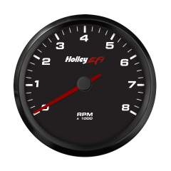 "HOLLEY EFI CAN TACHOMETER - 3-3/8"" 0-8K RPM RANGE, BLACK FACE, HLY 553-146"