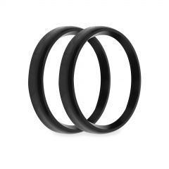 """HOLLEY EFI REPLACEMENT BEZELS - 4-1/2"""" BEZELS, BLACK, BOLD STYLE, PACK OF 2, HLY 553-147BKB"""