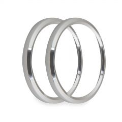 """HOLLEY EFI REPLACEMENT BEZELS - 4-1/2"""" BEZELS, SILVER, PACK OF 2, HLY 553-147S"""