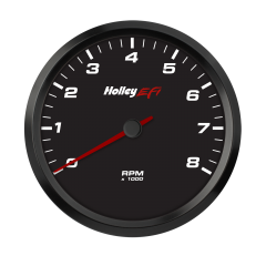 "HOLLEY EFI CAN TACHOMETER - 4-1/2"" 0-8K RPM RANGE, BLACK FACE, HLY 553-147"
