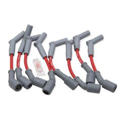 Holley EFI Spark Plug Wire Set Red with Grey 45 degree boots for 2010-15 Camaro SS 6.2L V8 shorty headers,HLY561-102