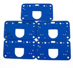 AED 5840 4150 4160 STYLE CARBURETORS BLUE NON STICK METERING BLOCK GASKETS 5 PACK
