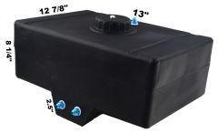 RDN3000701 RACERDIRECT.NET 5 GALLON RACING FUEL CELL WITH SUMP PLASTIC TWIST OFF CAP