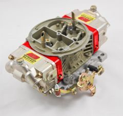 AED 750HM 4150 MARINE SERIES CARB WITH RED BILLET ALUMINUM METERING BLOCKS