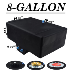 8 GALLON FUEL CELL W/SUMP - BOTTOM FEED