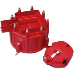MSD Distributor Cap and Rotor; GM HEI Dist. Red MSD8416