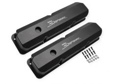 Sniper Fabricated Aluminum Tall Valve Cover - 1958-1976 Ford FE - Black Finish, SNE 890001B
