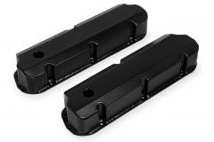 Sniper Fabricated Aluminum Valve Covers - 1962-85 Ford Small Block - Black Finish, SNE 890011B