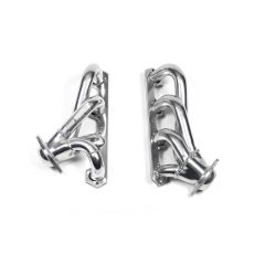 """Flowtech Shorty Headers - Silver Ceramic Coated - 87-95 Ford F-150/250/Bronco, 2WD/4WD, 5.0L - 1.5"""" Tube Size, 91627-1FLT"""
