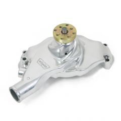 """Weiand Action +Plus Aluminum Water Pump w/ """"Twisted Snout"""" design - Chevrolet Big Block Short, Polished Finish"""
