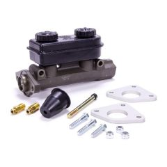 "STRANGE DUAL MASTER CYLINDER - 1.032"" BORE - INCLUDES DUST BOOT, PUSHROD, FITTINGS, & REINFORCING PLATES"