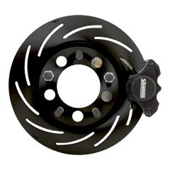STRANGE PRO SERIES FRONT BRAKE KIT - FOR 1994-2004 MUSTANG REUSING OEM HUBS 2 PISTON CALIPERS & ONE PIECE SLOTTED ROTORS
