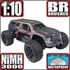 REDCAT RACING BLACKOUT XTE 1/10 SCALE MONSTER SUV OFF ROAD ELECTRIC RADIO CONTROLLED GRAY/BLACK BRSHED MOTOR AND ESC