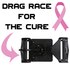 """Drag Race For The Cure"" Custom 3 Inch SFI 16.1 Latch and Link Race Harness"