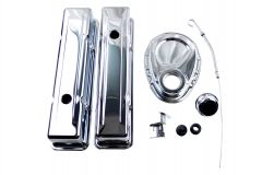RACERDIRECT 58-86 SMALL BLOCK CHEVY CHROME STEEL DRESS UP KIT RDN S3024