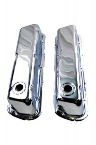 RACERDIRECT 63-95 FORD WINDSOR SMALL BLOCK 289-302 VALVE COVER DRESS UP KIT CHROME STEEL RDN S3025