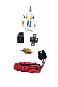 RACERDIRECT COMPLETE ELECTRIC THERMOSTATICALLY COOLING FAN WIRING & RELAY KIT 30 AMP