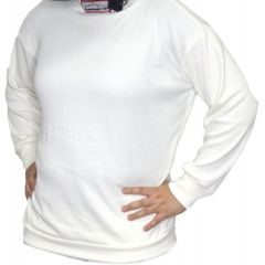 RACERDIRECT RACING UNDERWEAR SFI 3.3 UNDERGARMENT TOP SHIRT WHITE