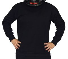 RACERDIRECT RACING UNDERWEAR SFI 3.3 UNDERGARMENT TOP SHIRT BLACK