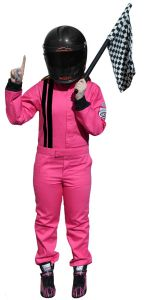 RACERDIRECT RACING 1-PIECE SUIT SFI 3.2A/1 JUNIOR PINK