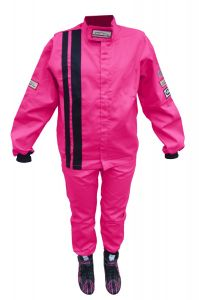 RACERDIRECT RACING TWO PIECE SUIT SFI 3.2A/1 JUNIOR PINK