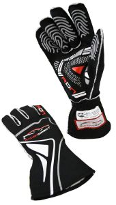 RACERDIRECT RACING GLOVES SFI 3.3/5 REVERSE STITCH SILICON PRINT