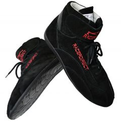RACERDIRECT SFI 3.3/5 RACE SHOES MID TOP RACING SHOES SUEDE BLACK