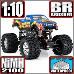 REDCAT RACING GROUND POUNDER 1/10 SCALE ELECTRIC RC MONSTER TRUCK BLUE