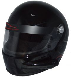 RACERDIRECT FULL FACE VENTED HELMET GLOSS BLACK SNELL SA 2015 SFI 24.1