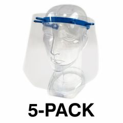 FACE SHIELD, 180 DEGREE PROTECTION - 5-PACK