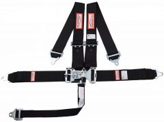 "RACERDIRECT 3"" RACING HARNESS SFI 16.1, LATCH & LINK, INDIVIDUAL ROLL BAR MOUNT, PULL DOWN LAP BELTS, BOLT IN"