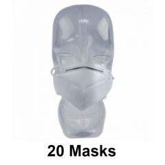 20 PIECES  KN95 FACE MASK 5 -PLY VIRUS PROTECTION, FDA APPROVED