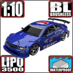 REDCAT RACING LIGHTNING EXP PRO 1/10 SCALE ON ROAD CAR ELECTRIC RADIO CONTROLLED BRUSHLESS MOTOR AND ESC BLUE