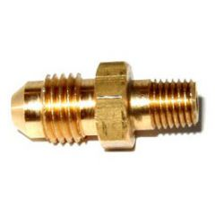 """NOS Flare to Pipe Fitting Straight/180° Flow 4AN - 1/16"""" NPT Brass, 17945NOS"""