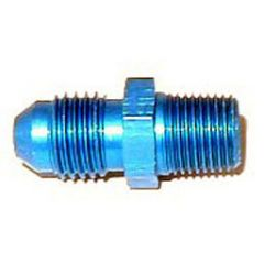"""NOS Flare to Pipe Fitting Straight/180° Flow 4AN - 1/8"""" NPT Blue, 17960NOS"""