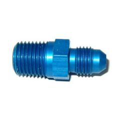 """NOS Flare to Pipe Fitting Straight/180° Flow 4AN - 1/4"""" NPT Blue, 17970NOS"""