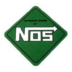 "NOS-19205NOS NOS GREEN RACING DECAL 4"" X 4"""