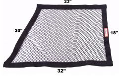 "RACERDIRECT NON-SFI OBLONG MESH WINDOW NET (23"" X 18"" X 32"" X 20"")"