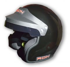 RACERDIRECT OPEN FACE HELMET SNELL SA 2015 GLOSS BLACK SFI 24.1 NON DOT