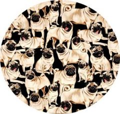 PUGS FABRIC FOR FOR HI5BER BOARD