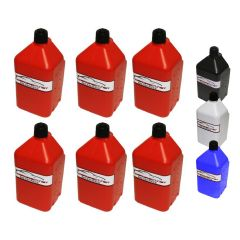 RACERDIRECT 5 GALLON UTILITY JUG WITH HOSE KIT - 6 PACK