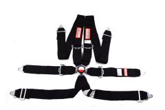 """RACERDIRECT 6 POINT 3"""" RACING HARNESS SFI 16.1, CAM LOCK , INDIVIDUAL FLOOR MOUNT, PULL DOWN LAP BELTS, 3"""" DOUBLE SUB, BOLT IN"""