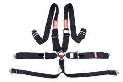 """RACERDIRECT 3"""" RACING HARNESS SFI 16.1, CAM LOCK, 6 POINT INDIVIDUAL FLOOR MOUNT, PULL DOWN LAP BELTS, SNAP IN"""