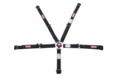 "RACERDIRECT JR 2"" RACING HARNESS SFI 16.1, CAM LOCK, INDIVIDUAL ROLL BAR MOUNT, PULL DOWN LAP BELTS, ALL WRAP IN"