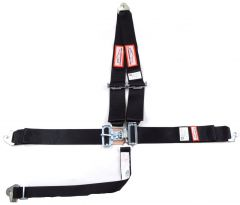 """RACERDIRECT 3"""" RACING HARNESS SFI 16.1, LATCH & LINK, V ROLL BAR MOUNT, PULL DOWN LAP BELTS, SNAP IN"""