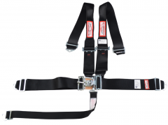 "RACERDIRECT UNIVERSAL HANS 3"" RACING HARNESS SFI 16.1, LATCH & LINK, INDIVIDUAL ROLL BAR MOUNT, PULL DOWN LAP BELTS, BOLT & WRAP ANCHORS"