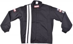RACERDIRECT.NET SFI 3-2A/1 KIDS SINGLE LAYER JACKET WITH VERTICAL STRIPES BLACK