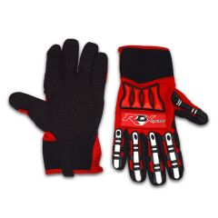 RACERDIRECT XTREME RUBBERIZED CREW GLOVES - RED/BLACK