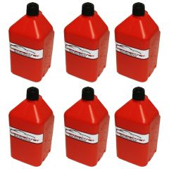 RACERDIRECT 5 GALLON UTILITY JUG 2 HANDLE WITH HOSE KIT RED 6 JUGS PER CASE